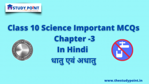 Class 10 Science Important MCQs Chapter -3