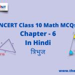 Class 10 Math MCQsChapter 6त्रिभुज