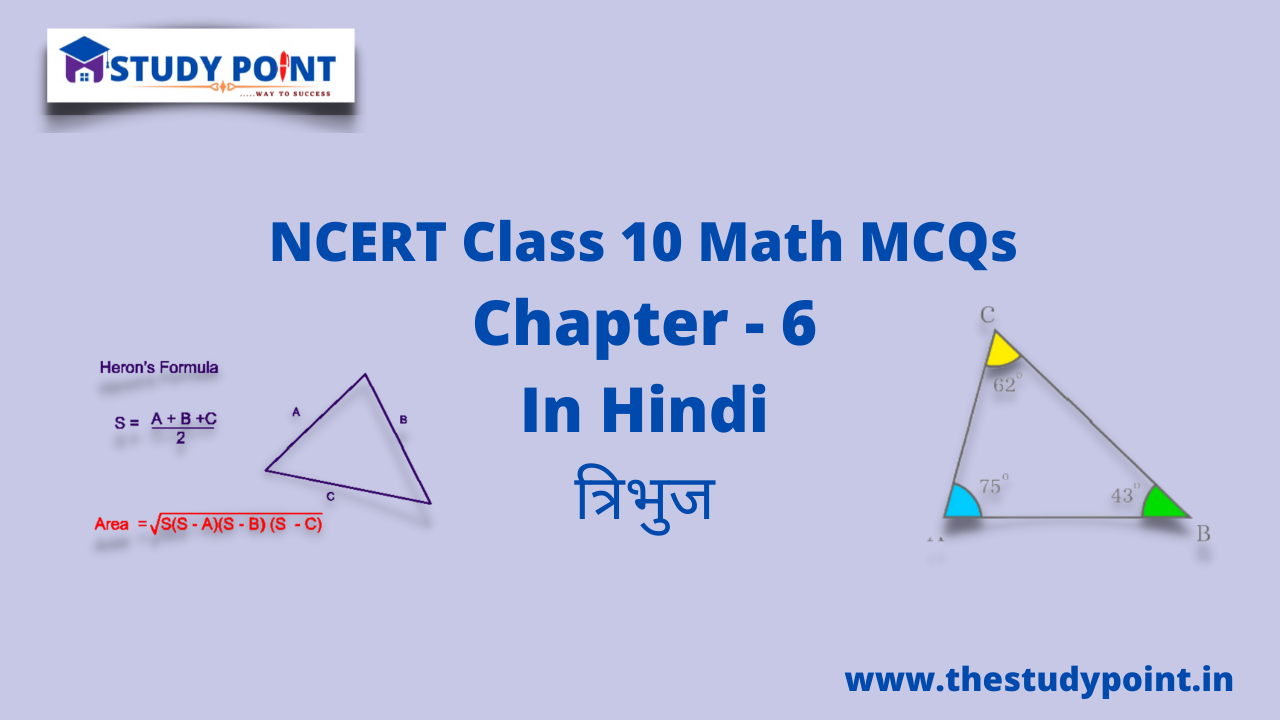 Read more about the article Class 10 Math MCQsChapter 6त्रिभुज