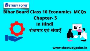 Bihar Board Class 10 Economics MCQs Chapter – 5