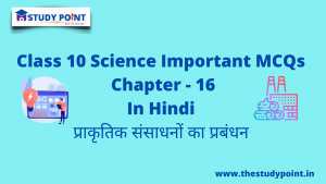 Read more about the article Class 10 Science MCQs Chapter -16