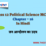 Class 12 Political Science MCQs Chapter – 16